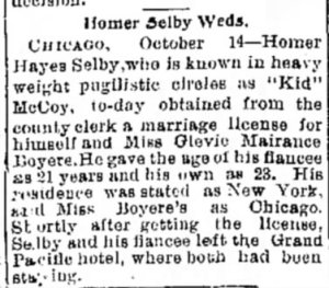 The Journal News (Hamilton, Ohio) 14 October 1899, page 8.