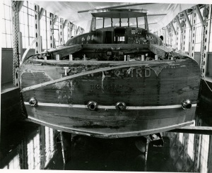 Damage to the transom. TLPS Archives.